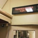 Фирменный поезд «Гилюй»: электронное табло