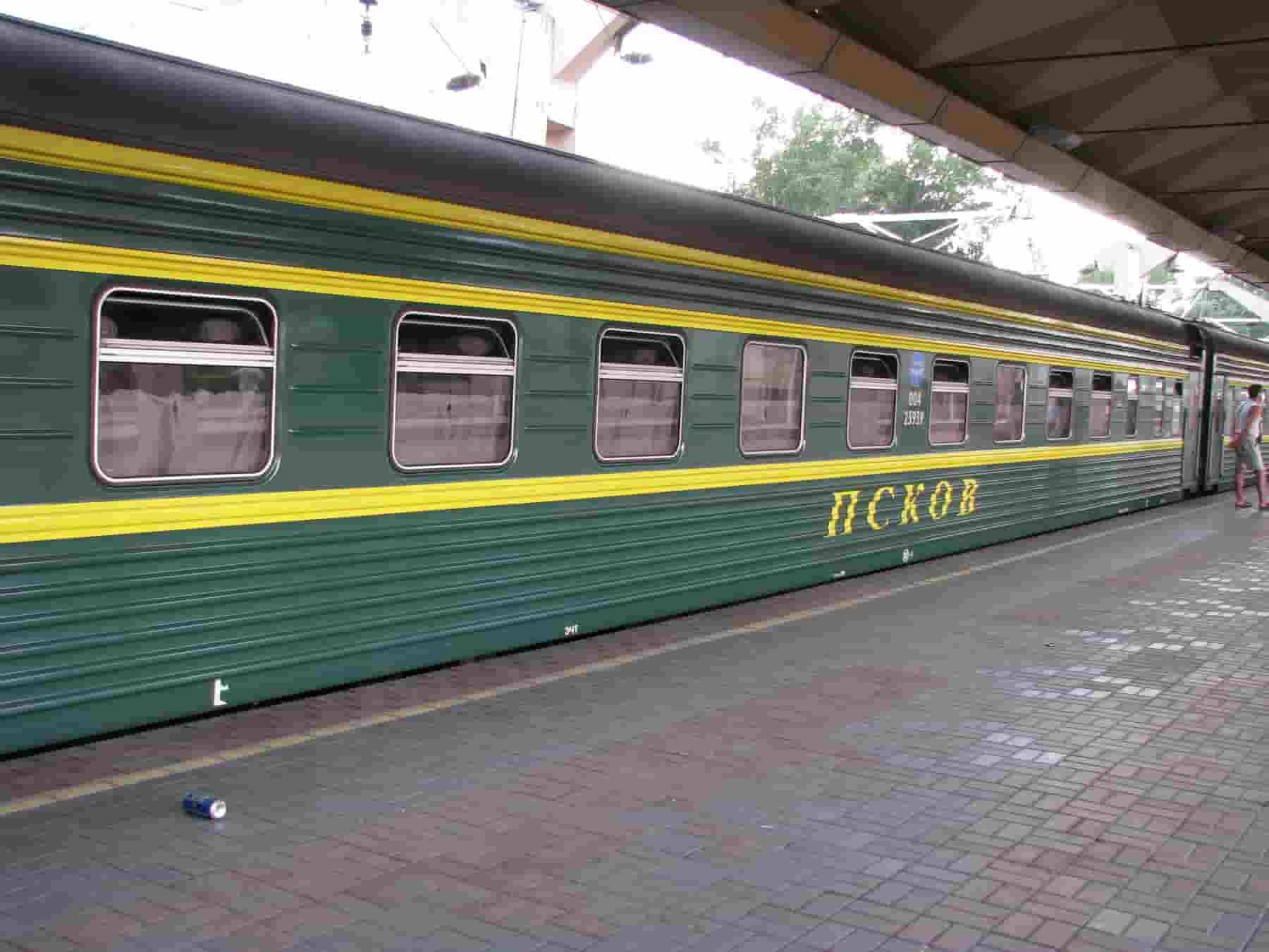 Фирменный поезд Псков
