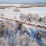 Фирменный поезд «Томич» на перегоне Томск — Багашево