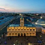 Фото Ленинградского вокзала: вид сверху