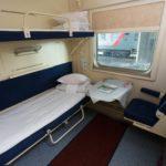 Интерьер купе для инвалидов поезда «Белые ночи»