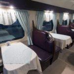 Интерьер вагона-ресторана поезда «Белые ночи»