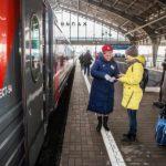 Обновленный поезд Янтарь