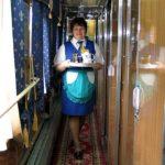 Проводница фирменного поезда «Янтарь»