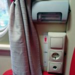 Розетки в вагонах фирменного поезда «Тюмень»