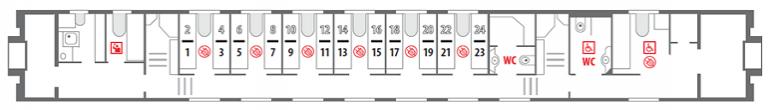 Схема штабного вагона 1 этаж фирменного поезда «Северная Пальмира»