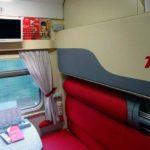 Телевизор в СВ фирменного поезда«Тюмень»