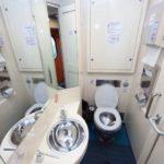 Туалет в купейном вагоне поезда «Белые ночи»