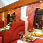 Ужин в вагоне-ресторане фирменного поезда «Гранд Экспресс»
