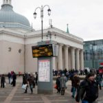 Ярославский железнодорожный вокзал: электронное табло